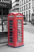 Popping Prints - London Phone Box Print by Dawn OConnor