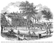 Schoolgirl Art - London Playground, 1843 by Granger