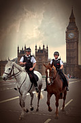 Police Metal Prints - London Police Metal Print by Svetlana Sewell
