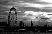 Big Ben Framed Prints - London silhouette Framed Print by Jorge Maia