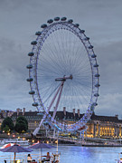 London Cityscape Art - London Skyline EDF Eye by David French