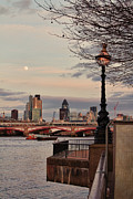 London Cityscape Art - London skyline from the South Bank by Jasna Buncic