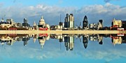 Panoramic Digital Art - London Skyline by Sharon Lisa Clarke