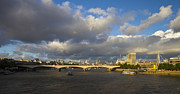 City And Colour Prints - London  Skyline Waterloo  Bridge  Print by David French