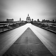 Pauls Framed Prints - London St. Pauls Framed Print by Nina Papiorek