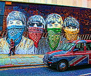 The Beatles John Lennon Posters - London street Poster by Jasna Buncic