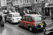 Taxi Cab Framed Prints - London Taxi  Framed Print by Stefan Kuhn