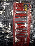 London England  Mixed Media - London Telephone Booth by Holly Anderson