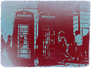 Old Town Photo Framed Prints - London Telephone Booth Framed Print by Irina  March