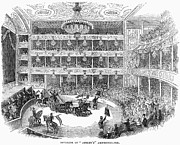 1843 Framed Prints - London: Theatre, 1843 Framed Print by Granger