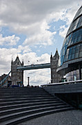 City Hall Prints - London Tower Bridge Print by Dawn OConnor
