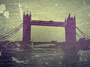 Old Digital Art Prints - London Tower Bridge Print by Irina  March