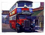 Nostalgia Paintings - London Transport Renown by Mike  Jeffries