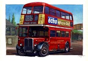 Nostalgia Paintings - London Transport Rt by Mike  Jeffries