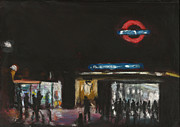 Underground Art Pastels Prints - London Tube 1 Print by Paul Mitchell