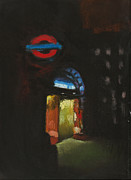 Underground Art Pastels Prints - London Tube 4 Print by Paul Mitchell