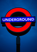 London Photo Posters - London Underground Poster by Inge Johnsson