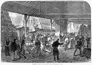 Raj Framed Prints - London: Unloading Tea, 1867 Framed Print by Granger