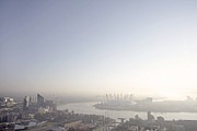 London View With The Thames And The O2 Print by Michael Blann