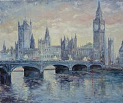 London Painting Originals - London Westminster Bridge by Irek Szelag