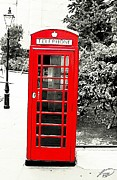 London England  Mixed Media - Londons Red Booth by Lauranns Etab