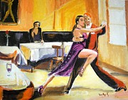 Dancers Painting Prints - Lone Audience Print by Judy Kay