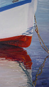 Boston Paintings - Lone Boat by Michael Cranford
