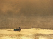 Steven Huszar Metal Prints - Lone Fisherman 2 Metal Print by Steven Huszar
