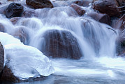 Lone Pine Prints - Lone Pine Creek And Ice In The Lone Print by Rich Reid