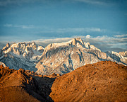 Waning Gibbous Moon Prints - Lone Pine Peak Print by Troy Montemayor
