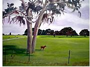 Landscape Sculpture Framed Prints - Lone Pony Framed Print by Hal Newhouser