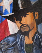 Tim Mcgraw Paintings - Lone Star Cowboy by Cheri Stripling