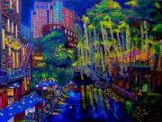 Riverwalk Paintings - Lone Star Evening by Patti Schermerhorn