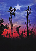 Lone Star Framed Prints - Lone Star Sunset Framed Print by Stephen Anderson