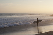 Sunset Photos - Lone Surfer by Maureen Bates