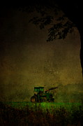 Farm Scenes Photos - Lone Tractor by Emily Stauring