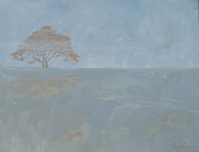 Lone Tree Painting Prints - Lone Tree Print by Christine Lathrop