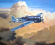 Usaf Painting Framed Prints - Lone Warrior FW190 Framed Print by Colin Parker