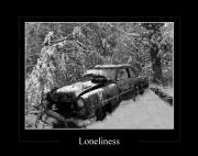Rural Snow Scenes Digital Art Posters - Loneliness Poster by Calum Faeorin-Cruich
