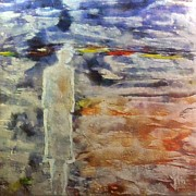 Encaustic Paintings - Loneliness by Dragica  Micki Fortuna