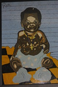 Baby Tapestries - Textiles - Lonely baby by Richmond Agbesi