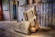 Cushion Posters - Lonely Chair Poster by Scott Norris