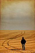 Harvest Art Prints - Lonely Cowboy Print by Okan YILMAZ