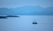 Trawler Metal Prints - Lonely Fisher Metal Print by Peter Olsen