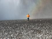 Whale Photo Originals - Lonely front of rainbow in northern desert by Andres Zoran Ivanovic