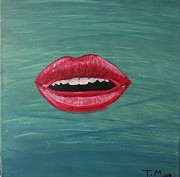 Lips  Paintings - Lonely Lips by Tyler Martin