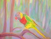 Bird Prints Paintings - Lonely Lorikeet by Arnold Grace