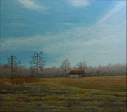 Shed Paintings - Lonely Shed by Dale Lewis
