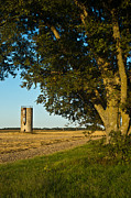 Pecan Framed Prints - Lonely Silo Framed Print by Douglas Barnett
