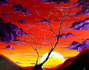 Sunset Prints Posters - Lonely Soul by MADART Poster by Megan Duncanson